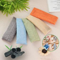 2 Bags Activated Bamboo Charcoal Air Purifying Bag Home Car