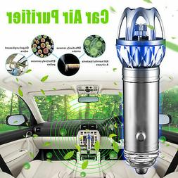 2 in 1 Car Dual USB Fresh Air Ionic Purifier Oxygen Bar Ozon