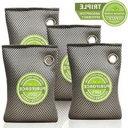4 Pack Air Purifier Bag Charcoal Bamboo Purifying Mold Odor