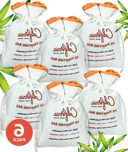 6-Piece x 200MG in White Bamboo Charcoal Air Purifying Bags