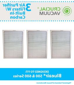 3 Blueair 500/600 Series Air Purifier Filters