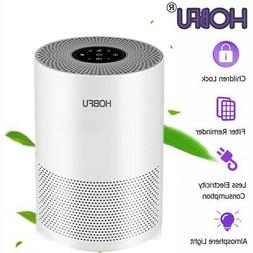 HOBFU Air Purifier for Home Allergies and Pets Dander HEPA F