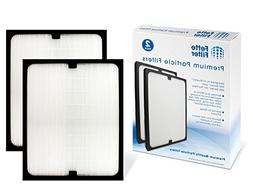 Fette Filter 2-Pack True HEPA Filter Compatible with Blueair