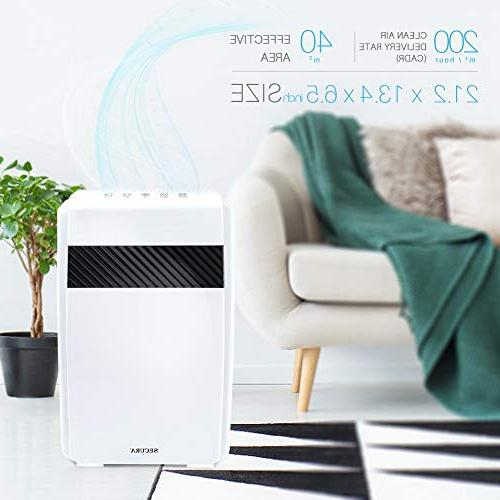 Secura 5-in-1 Purifier Cleaner, m³/ Home Quality Air Large Rooms, Smoke and Pet