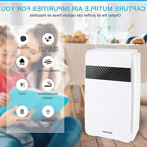 Secura 5-in-1 m³/ Home Quality Monitor, Allergen Eliminator Air for Smoke Pet Dander