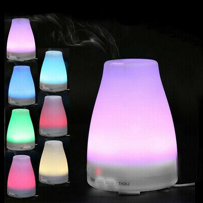 1pcs led air aromatherapy essential oil diffuser