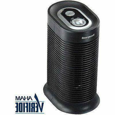 Honeywell - True Compact Tower Air Purifier - Black