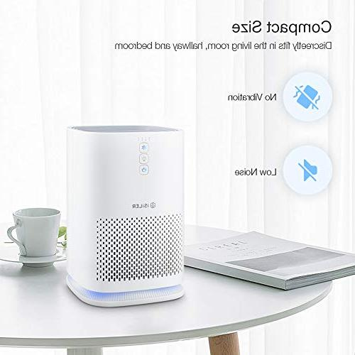 ISILER Air Purifier True Air Speeds for Eliminator for Home Office and Light, CFM