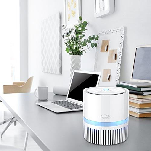 Air Purifier, Air Cleaner HEPA Filter,Compact Home Cleaner for Offices, Home Air Pet, Smoking and Smells