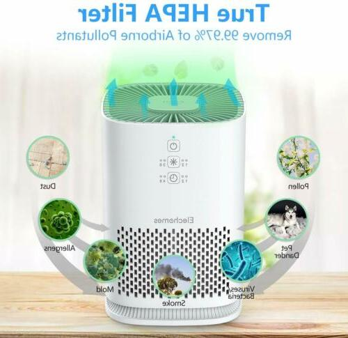 ELECHOMES Home HEPA Ultra Quiet Cleaner- White