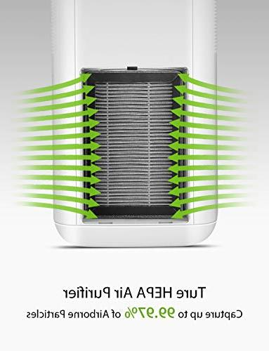iTvanila Air 3M True Room Air and 99.97% Air Purifier, for Smoke, Mold, Pollen, Night Light