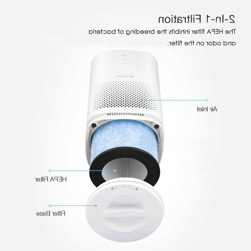 Air Purifier HEPA Filter Portable with 3 Dust