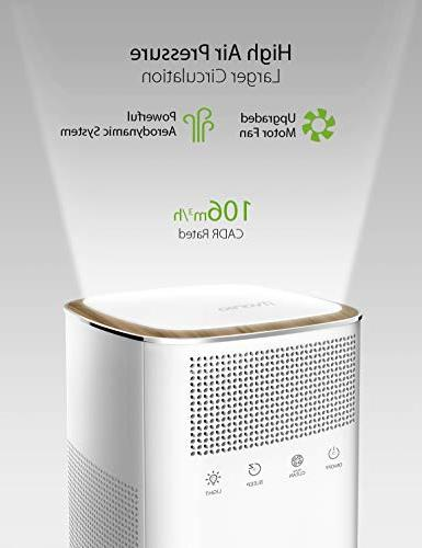 iTvanila Air Room Air and Air Cleaner Purifier, Odor Eliminator for Smoke, Dust, Pollen, with Night Light