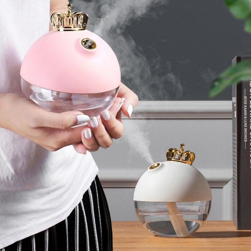 Cute Crown <font><b>Air</b></font> <font><b>Purifier</b></font> Aroma For Personal Night Light