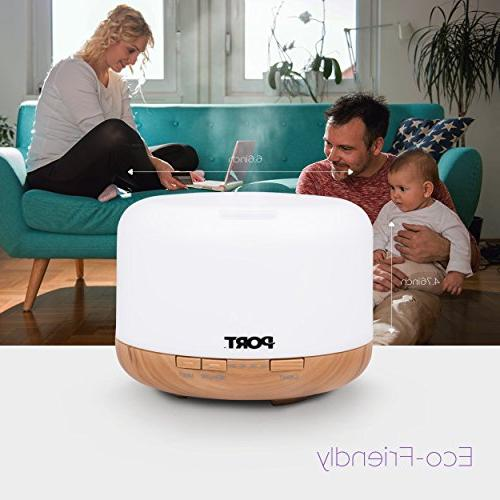 Port 500ml, Vaporizer/Nebulizer with Colors, Cool Humidifier, & Evaporative Home, Spa
