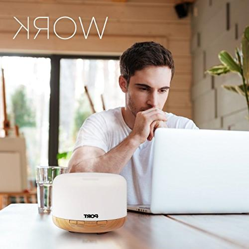 500ml, Essential Electric Vaporizer/Nebulizer 7 Colors, Cool Humidifier, & Evaporative Freshener Home, Office Or Spa