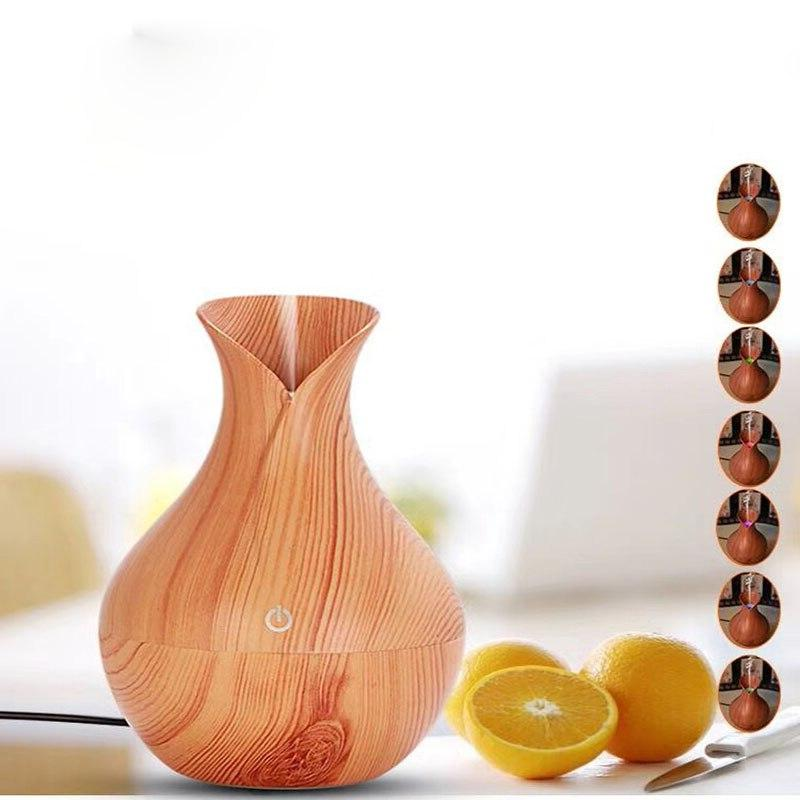 <font><b>Air</b></font> atomized essential aroma diffuser humidifier grain 7 color LED for office hui