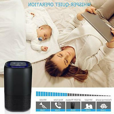 JETERY HEPA Filter Air Purifiers With Smart Auto-Off Timer Home
