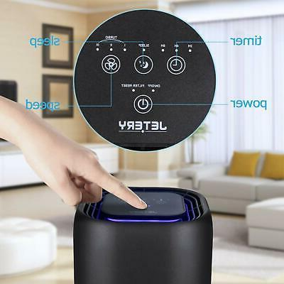 JETERY HEPA Filter Purifiers Smart Auto-Off Timer Home
