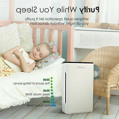 4-Stage Air Purifiers for Large Clean Allergies Pets Odors