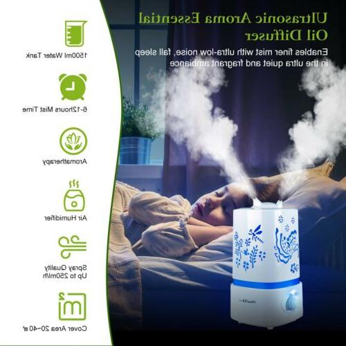 led ultrasonic humidifier air purifier essential oil