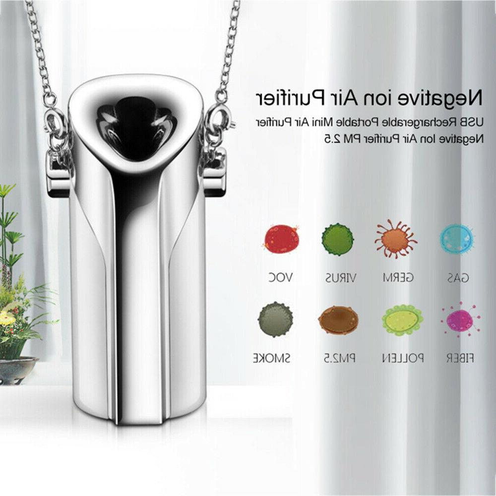 personal air purifier necklace portable freshener wearable