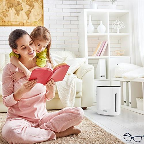 Pure True Air Purifier - UV-C Air Sanitizer - Eliminates Pollen, Household Odors More - Whisper-Quiet and Auto