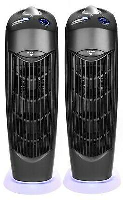 Two UV Atlas Electrostatic Ionic Carbon Filter Air Purifiers