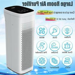 Large Home Air Purifier with True HEPA Filter, Quiet Mode Ai