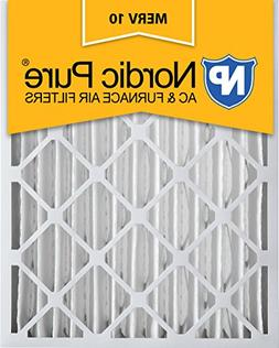 Nordic Pure 16x20x4  MERV 10 Pleated AC Furnace Air Filters,