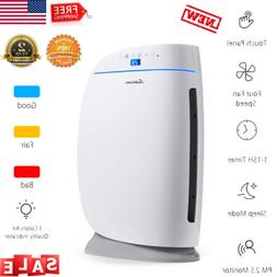 Powerful Air Purifier Cleaner Filter Quiet Fan Remove Smoke