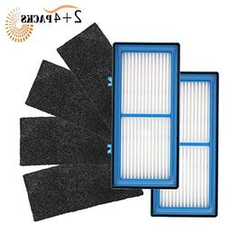 Mribo 2-Pack Replacement Holmes Total Air Filter, 4 Carbon B