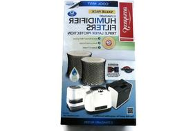 Sunbeam SF221 Humidifier filter with Color Check, 2PK