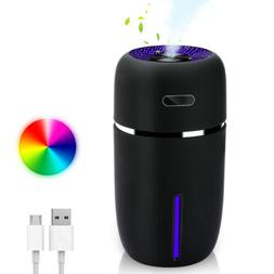 USB 7 Color LED Ultrasonic Air Humidifier Purifier Aroma Dif